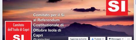 Nasce il Comitato dell'Isola di Capri per il SI al Referendum