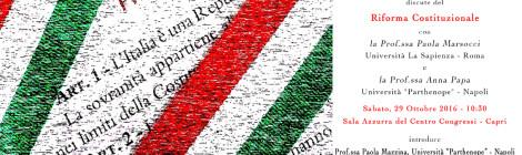 Parliamo di Riforma Costituzionale